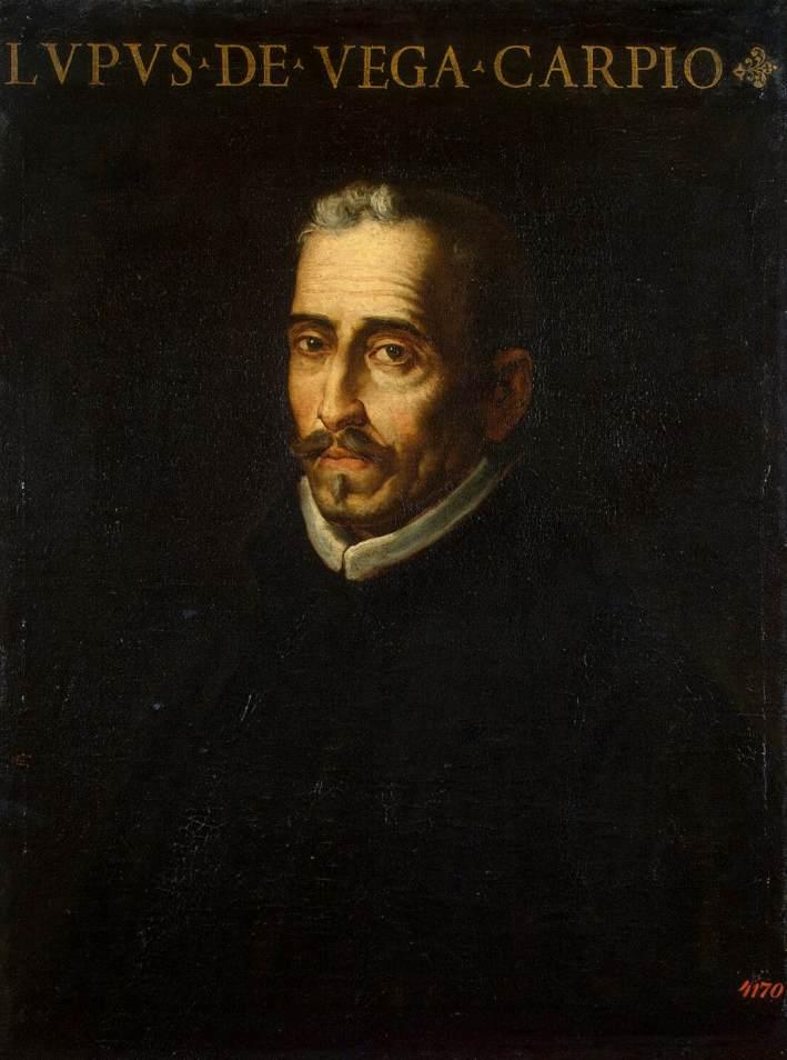 Retrato de Lope de Vega obra de Luis Tristán (1614)