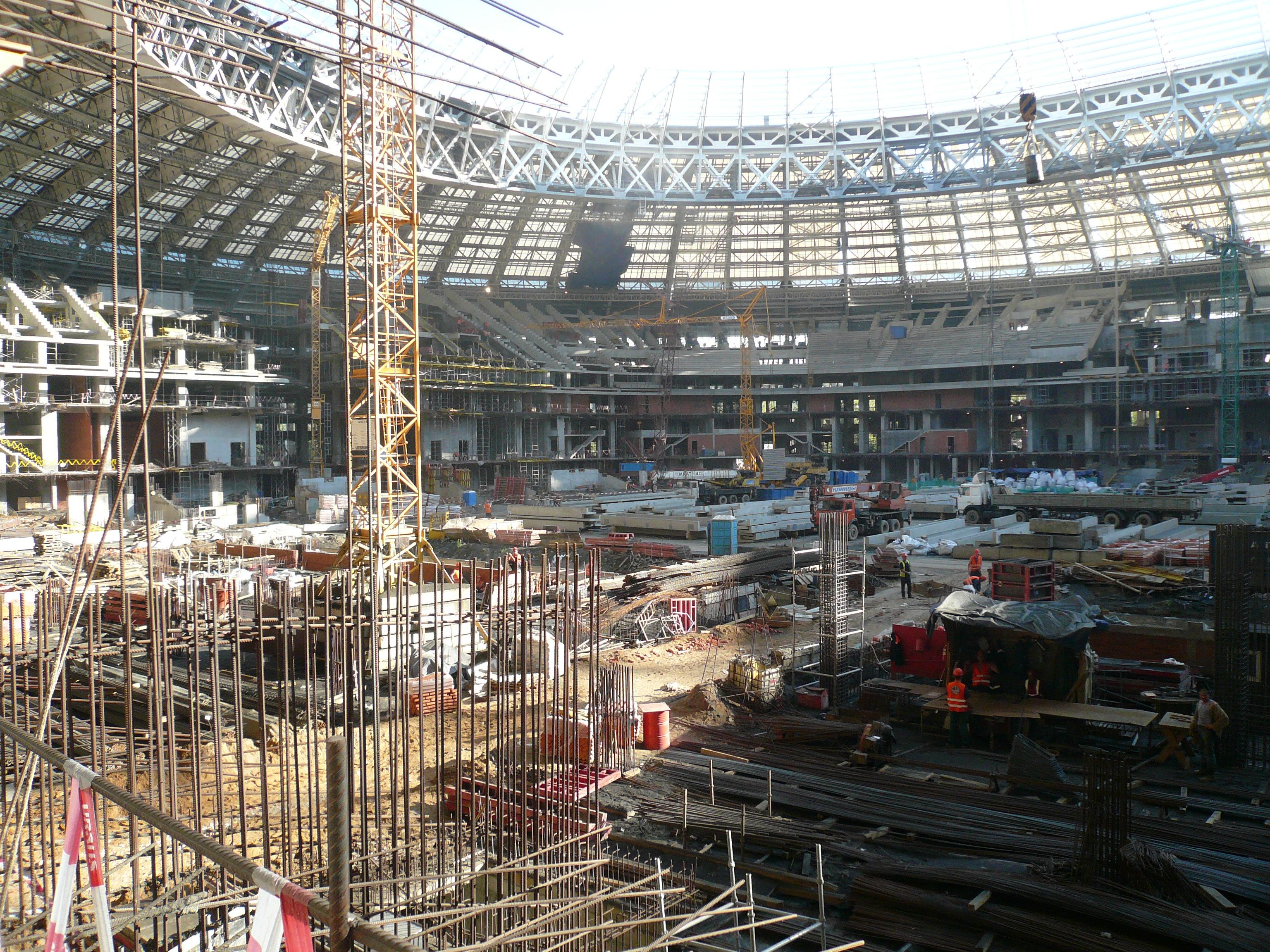 Luzhniki renovation 2015 jpg for Renovation wiki