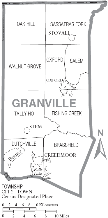 File:Map of Granville County North Carolina With Municipal andgranville county