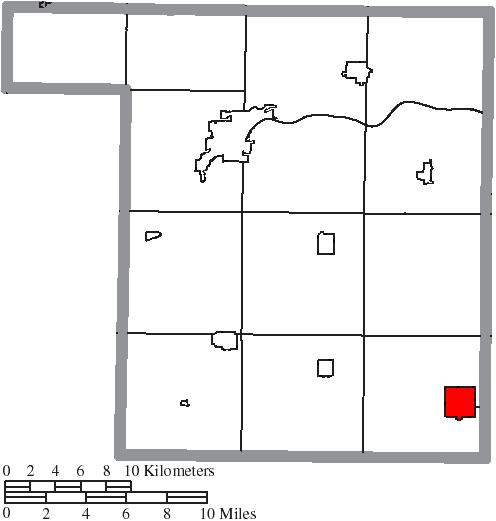 Deshler Ohio Map.File Map Of Henry County Ohio Highlighting Deshler Village Png
