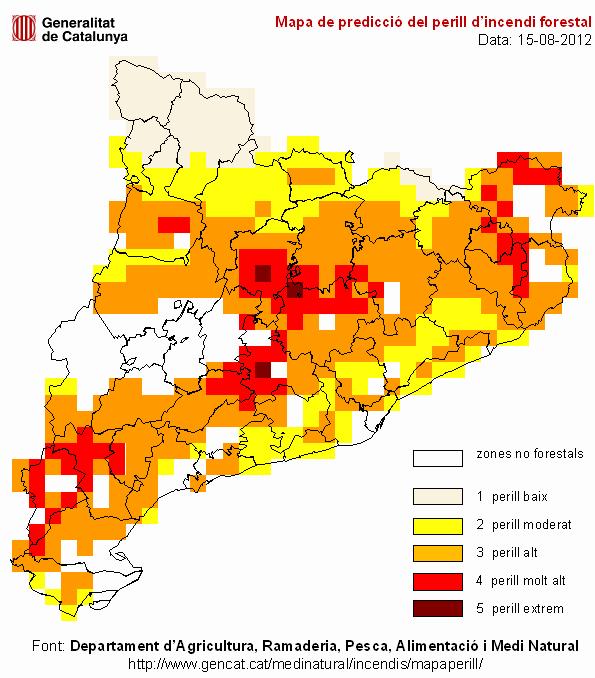 Mapa De Protecció Civil.File Mapa Perill Incendis 2012 08 15 Png Wikimedia Commons