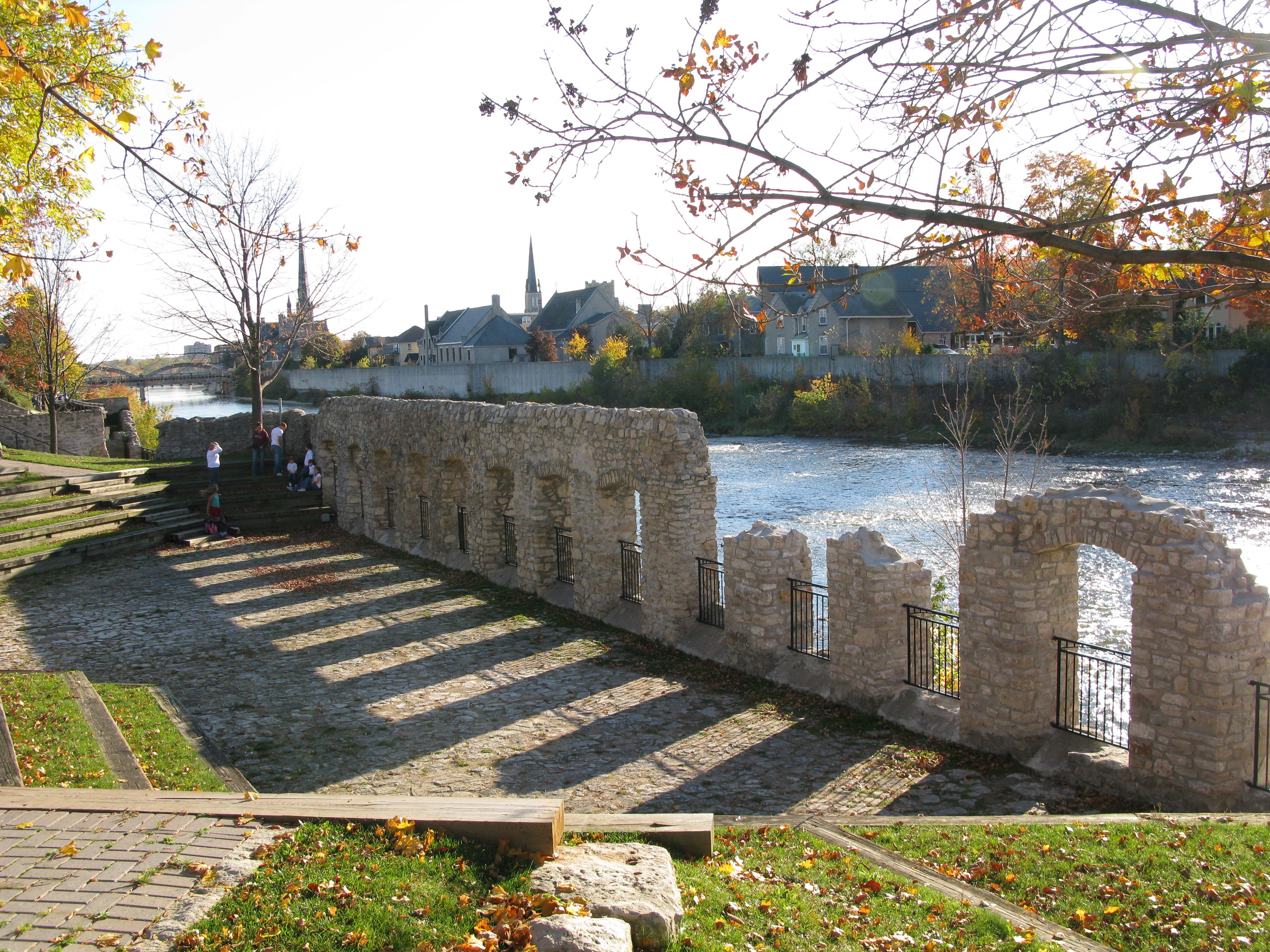 File Mill Race Ruins In Galt Ontario Jpg