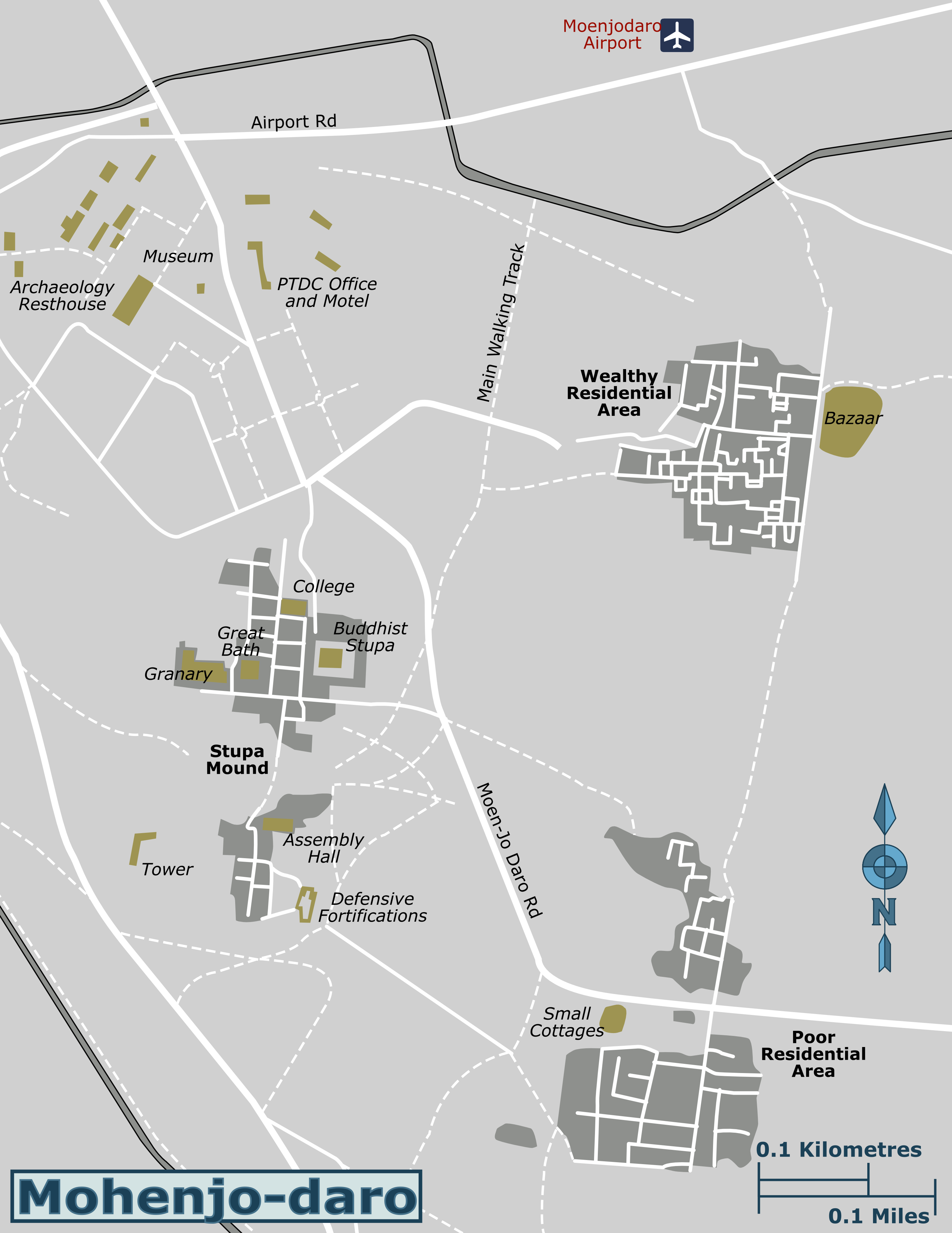 Detailed Map Of Mohenjo Daro