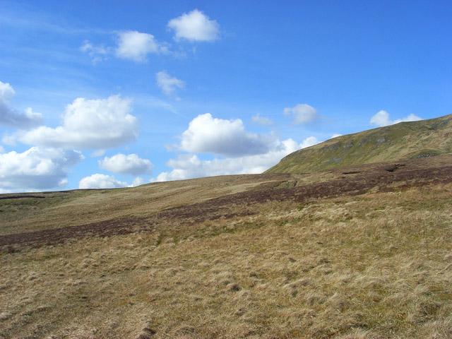 Moorland below Mickle Fell - geograph.org.uk - 1250514