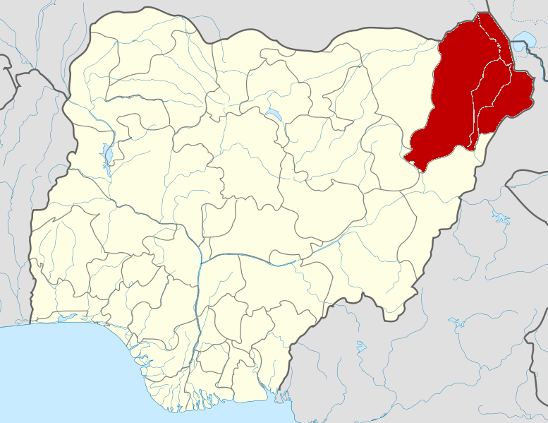 Nigeria Borno State map
