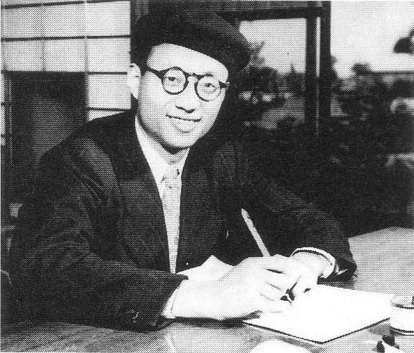 Photo Osamu Tezuka via Opendata BNF