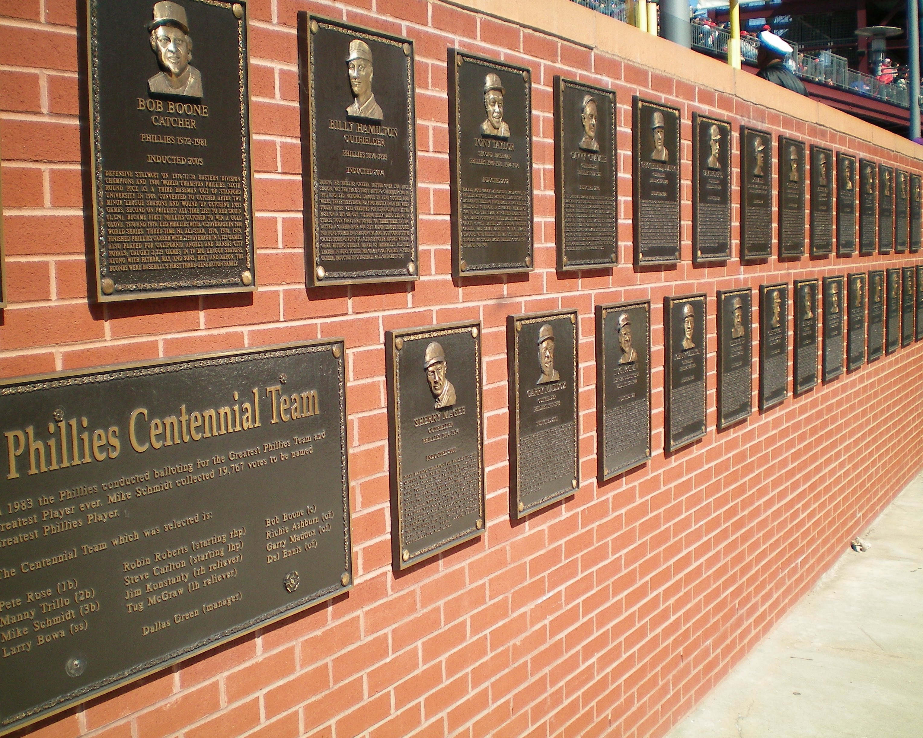 Philadelphia Baseball Wall Of Fame Wikipedia
