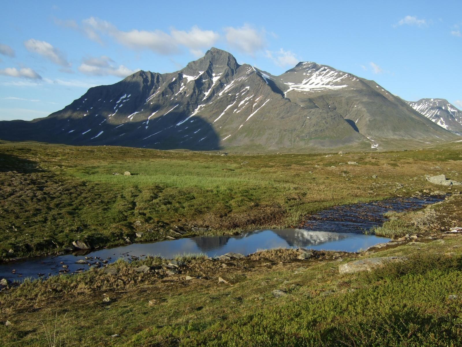 El monte Pierikpakte en el Parque Nacional de Sarek, Suecia (FOTO: wikimedia.org)