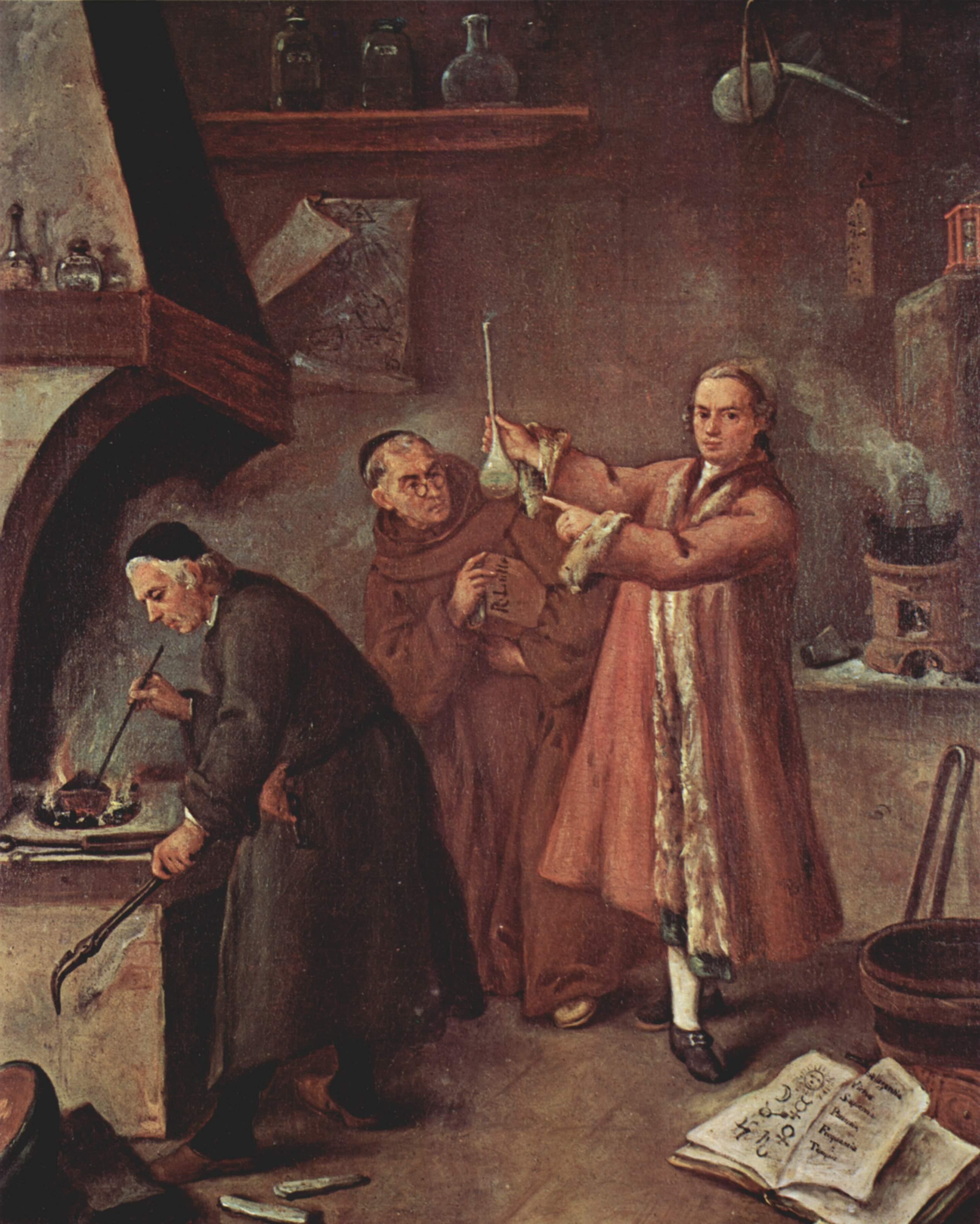 The Alchemist,  painting Pietro Longhi (1702-1785).