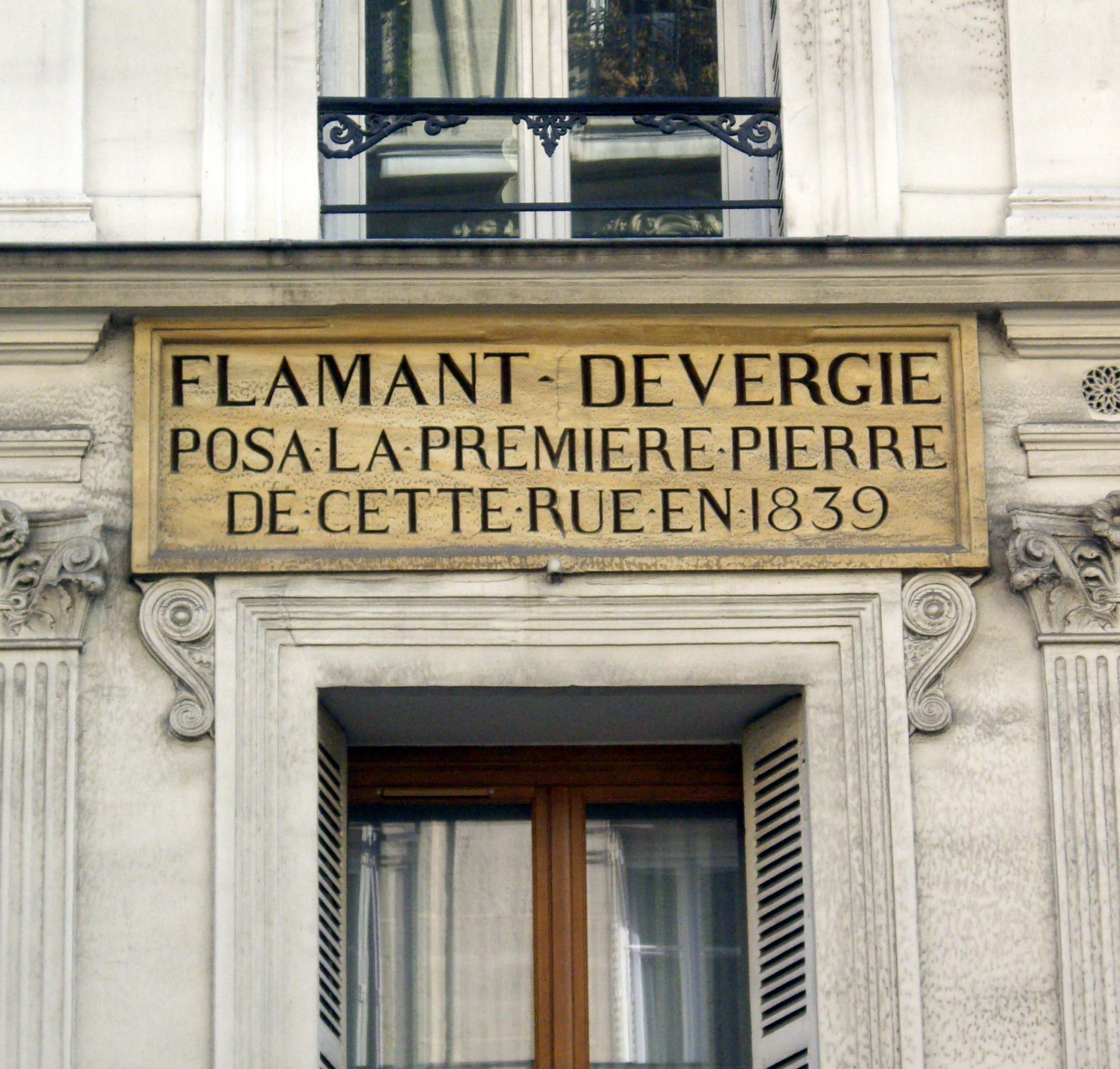 File plaque flamant devergie 19 21 rue rambuteau paris wikimedia commons - Rue rambuteau paris ...