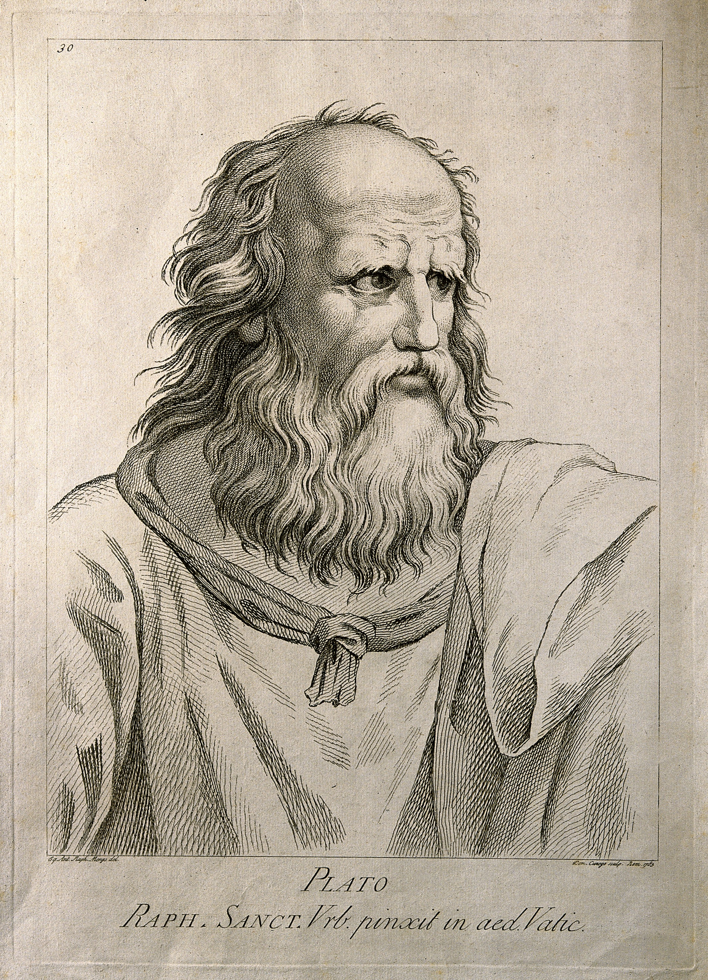 File:Plato. Etching by D. Cunego, 1783, after R. Mengs after Raph ...