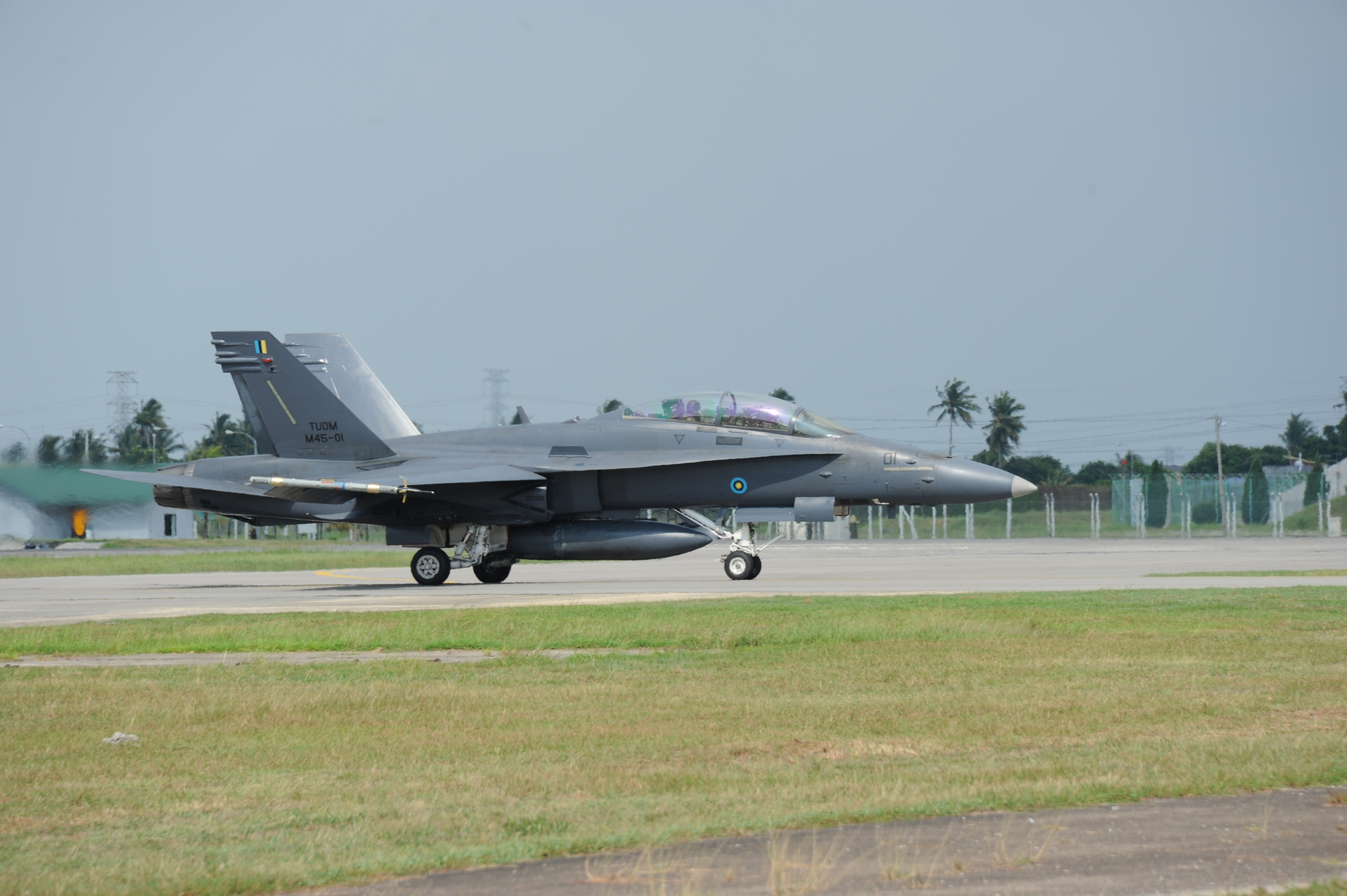 Royal Malaysian Air Force's F/A-18D during Cope Taufan, a joint USAF-RMAF exercise; 2012