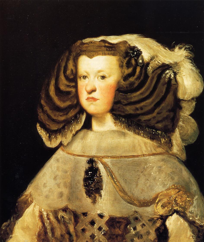 File:Retrato de la reina Mariana de Austria (2), by Diego ...