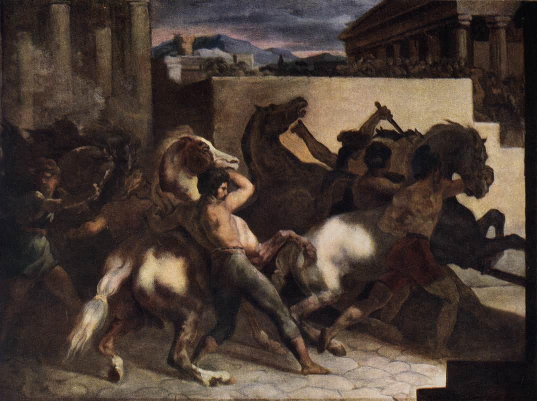 Théodore Géricault - Page 2 Riderless_Horse_Races_1817_Theodore_Gericault