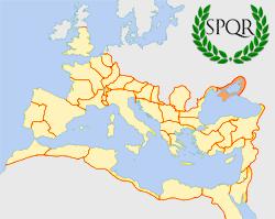 Roman Empire locator map