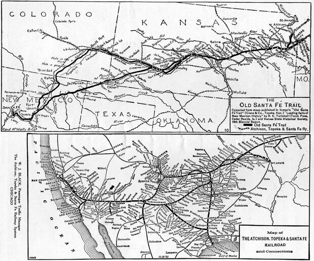 English: Comparison map showing the Santa Fe T...