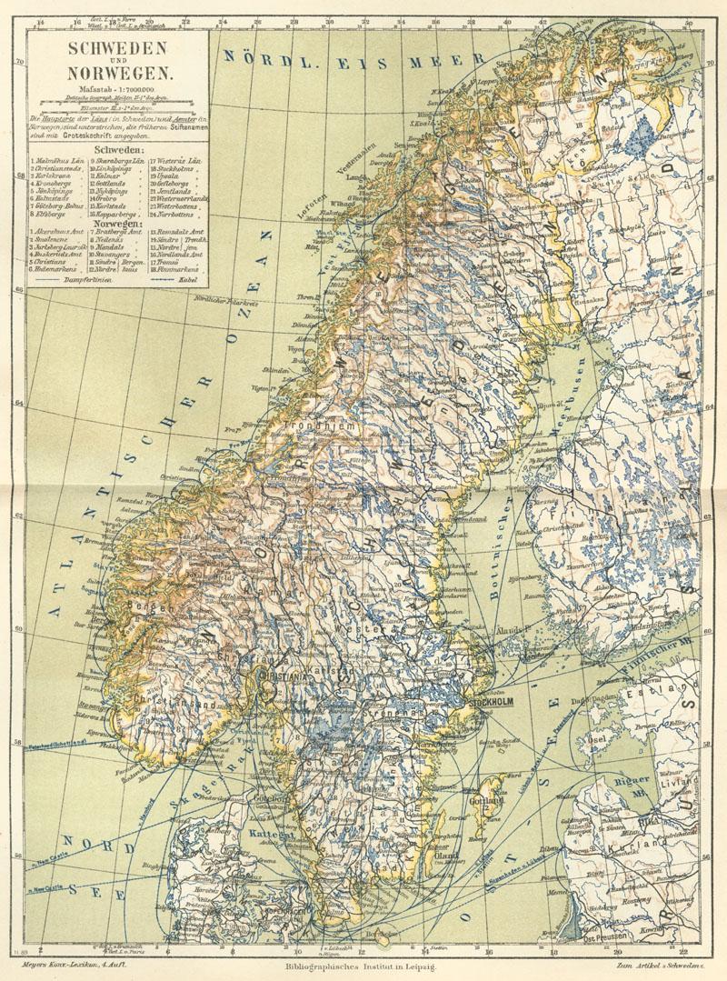 Karte Norwegen Schweden.Skandinavische Halbinsel Wikipedia