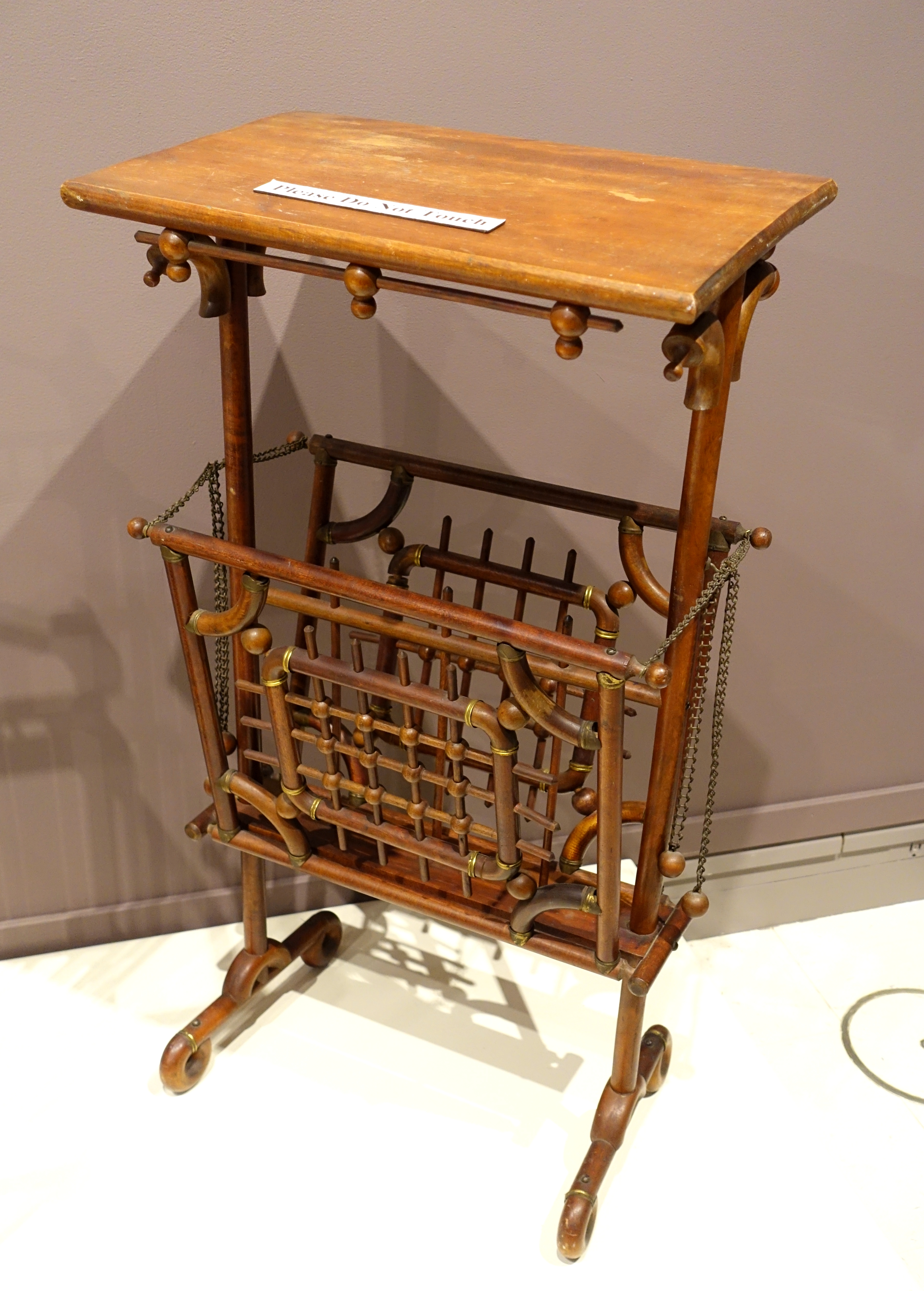 File:Side Table, Made By H. T. Cushman Manufacturing Company, North  Bennington VT,