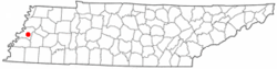 Location of Durhamville in Tennessee