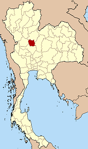 Map of Thailand highlighting Phichit Province}