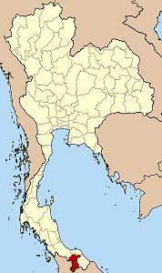 Map of Thailand highlighting Yala Province}