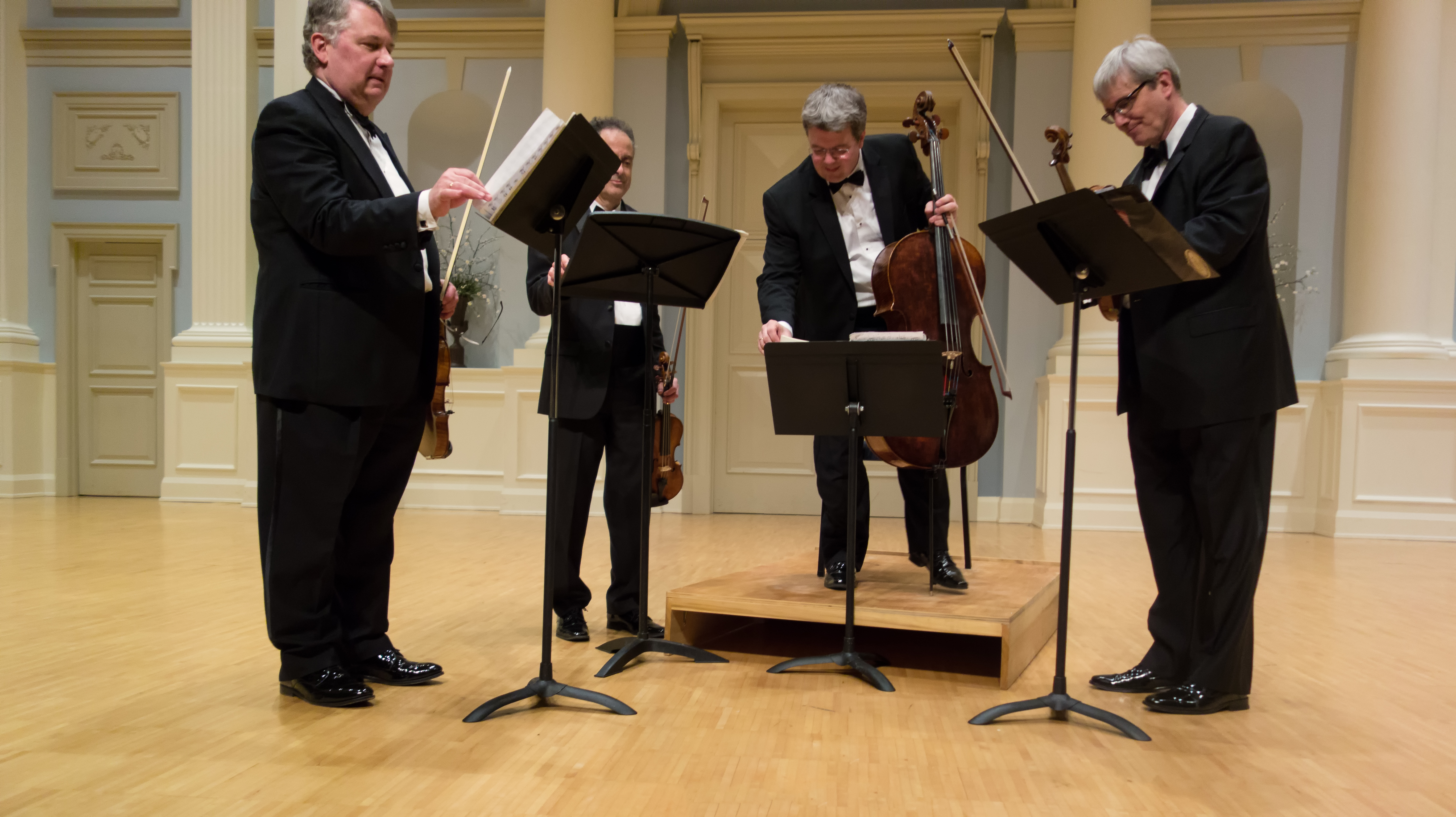 a review of a concert by the emerson quartet