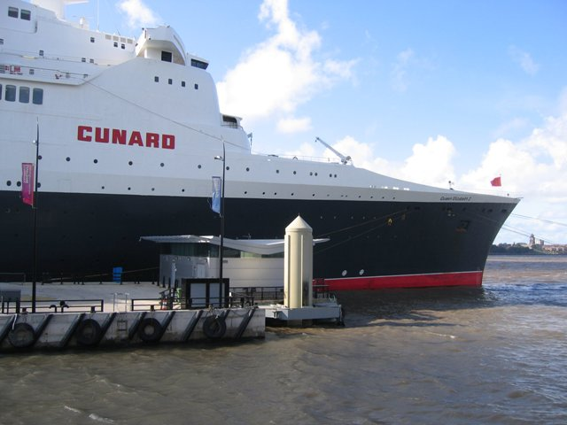 File:The prow of the Queen Elizabeth II at the liner terminal - geograph.org.uk - 1039908.jpg
