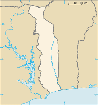 Location map ቶጎ