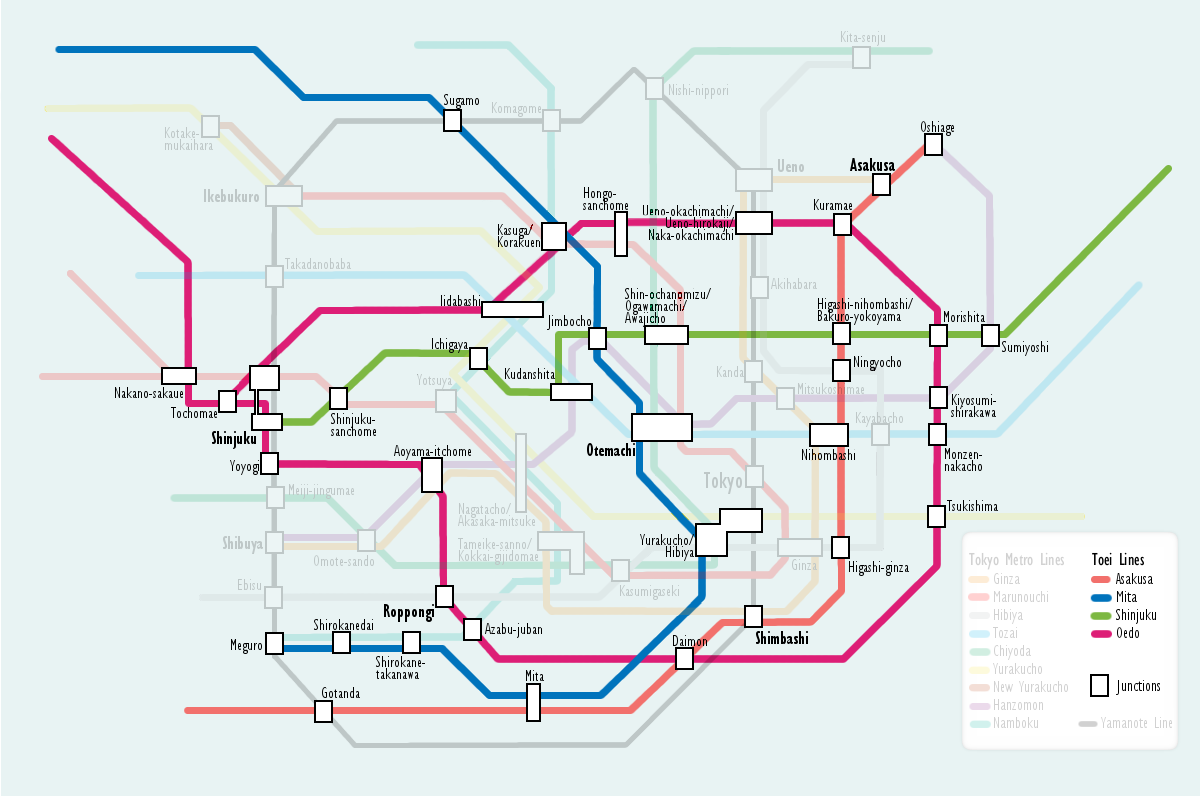 Toei Subway Map Pdf.File Tokyo Subway Toei Map Png Wikimedia Commons