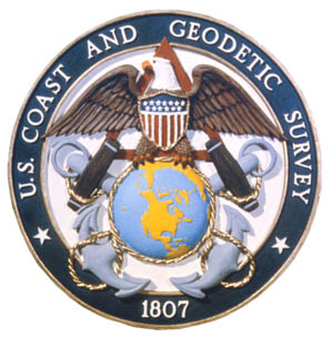 The seal of the United States Coast and Geodetic Survey, in which the NOAA Corps originated as the U.S. Coast and Geodetic Survey Corps in 1917. U.S. Coast and Geodetic Survey emblem.jpg