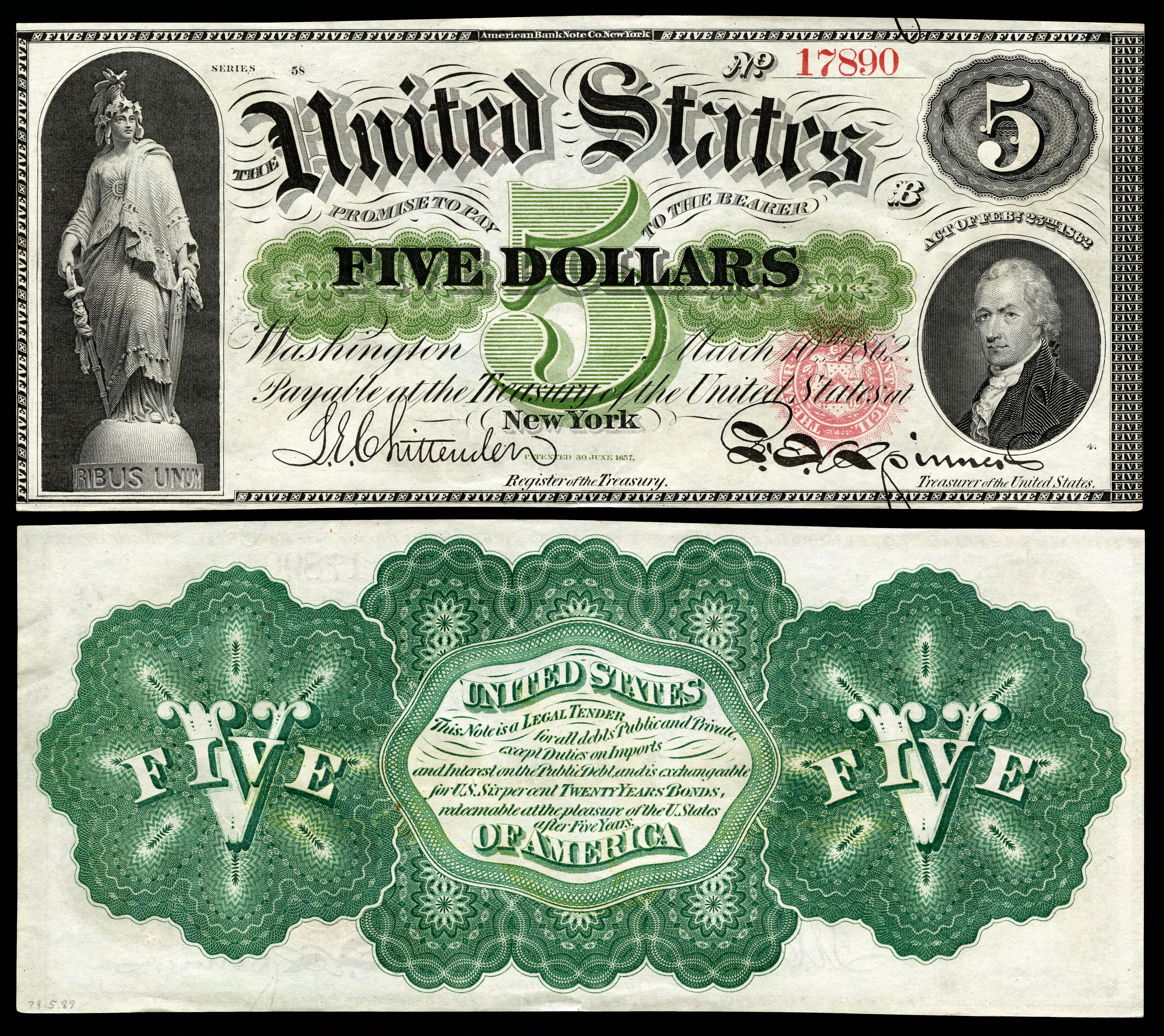 United States Five Dollar Bill Wikipedia