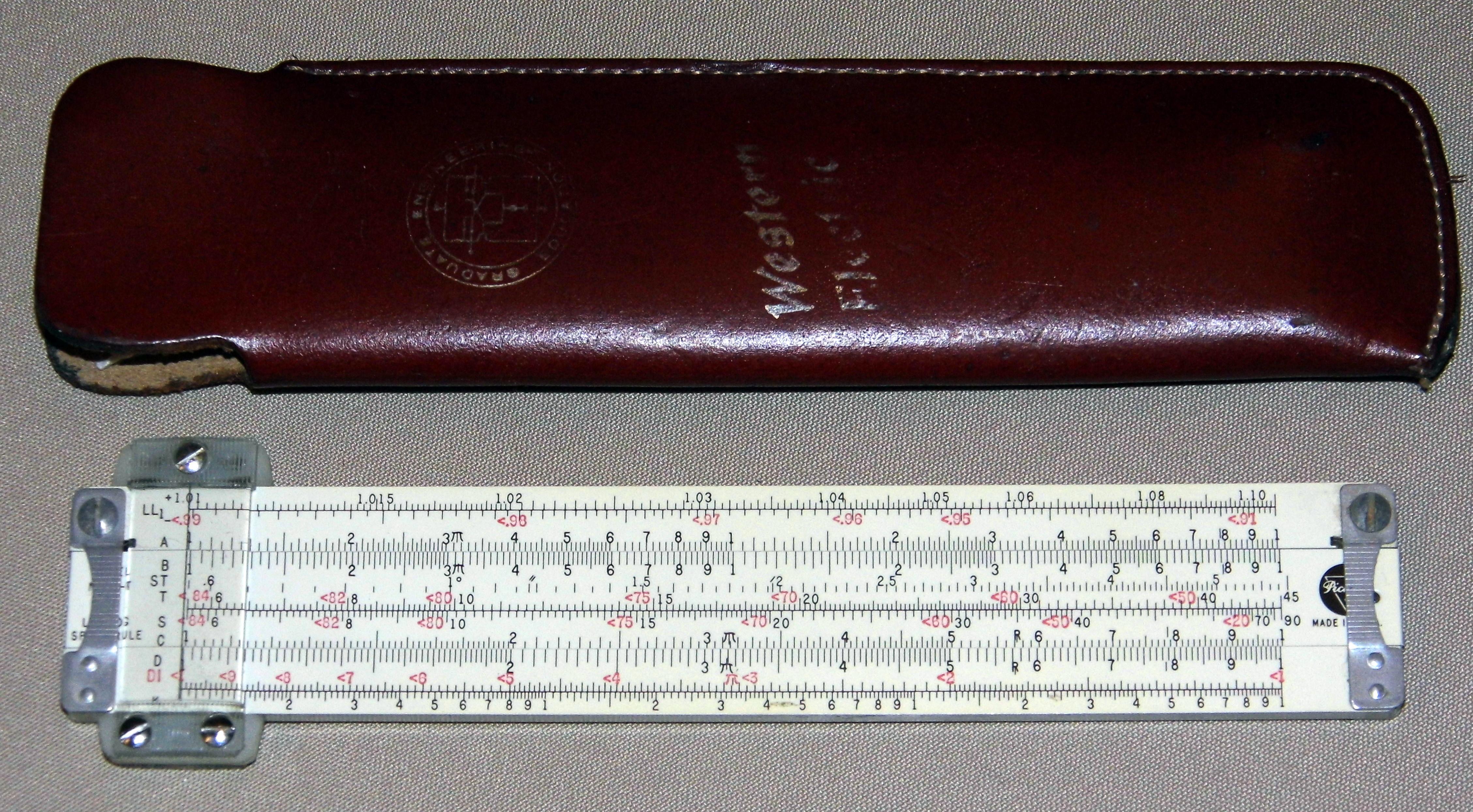 File:Vintage 6-Inch Pickett Slide Rule, Model N600-T with ...