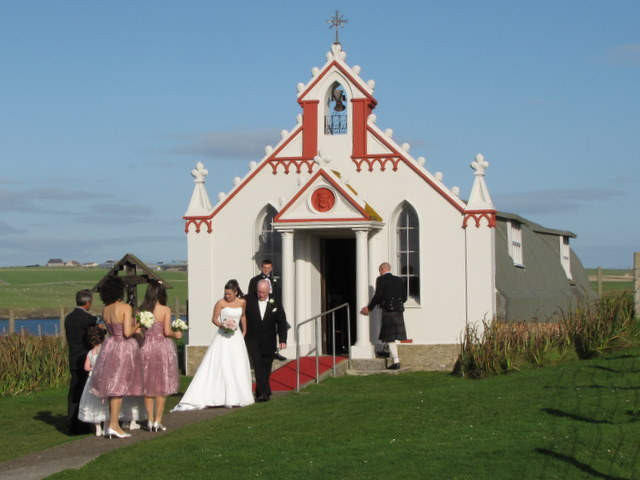File:Wedding at the Italian Chapel. - geograph.org.uk - 1511133.jpg