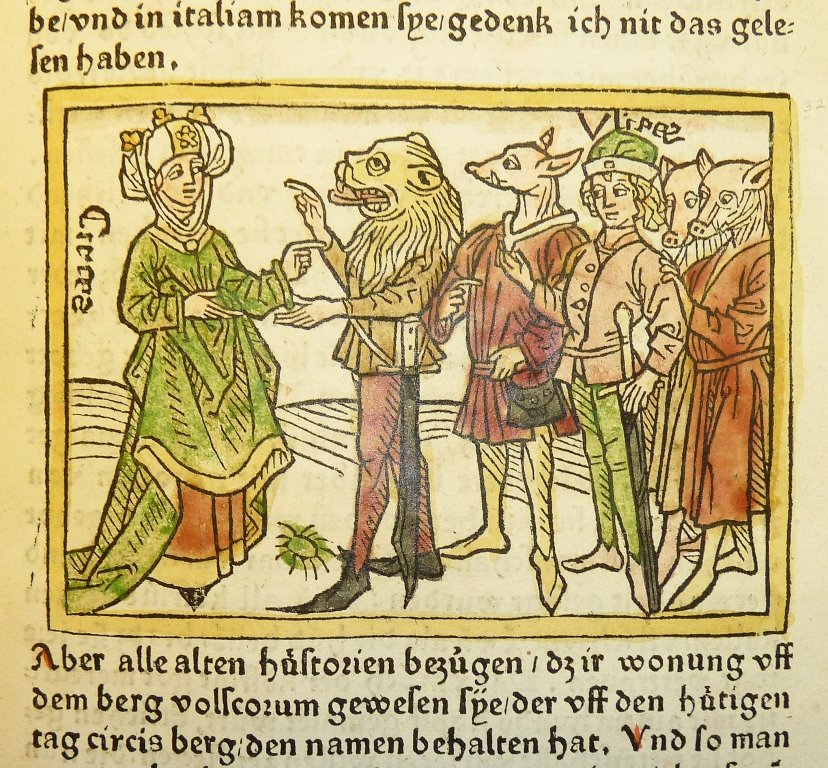 File Woodcut Illustration Of Circe And Odysseus With Men