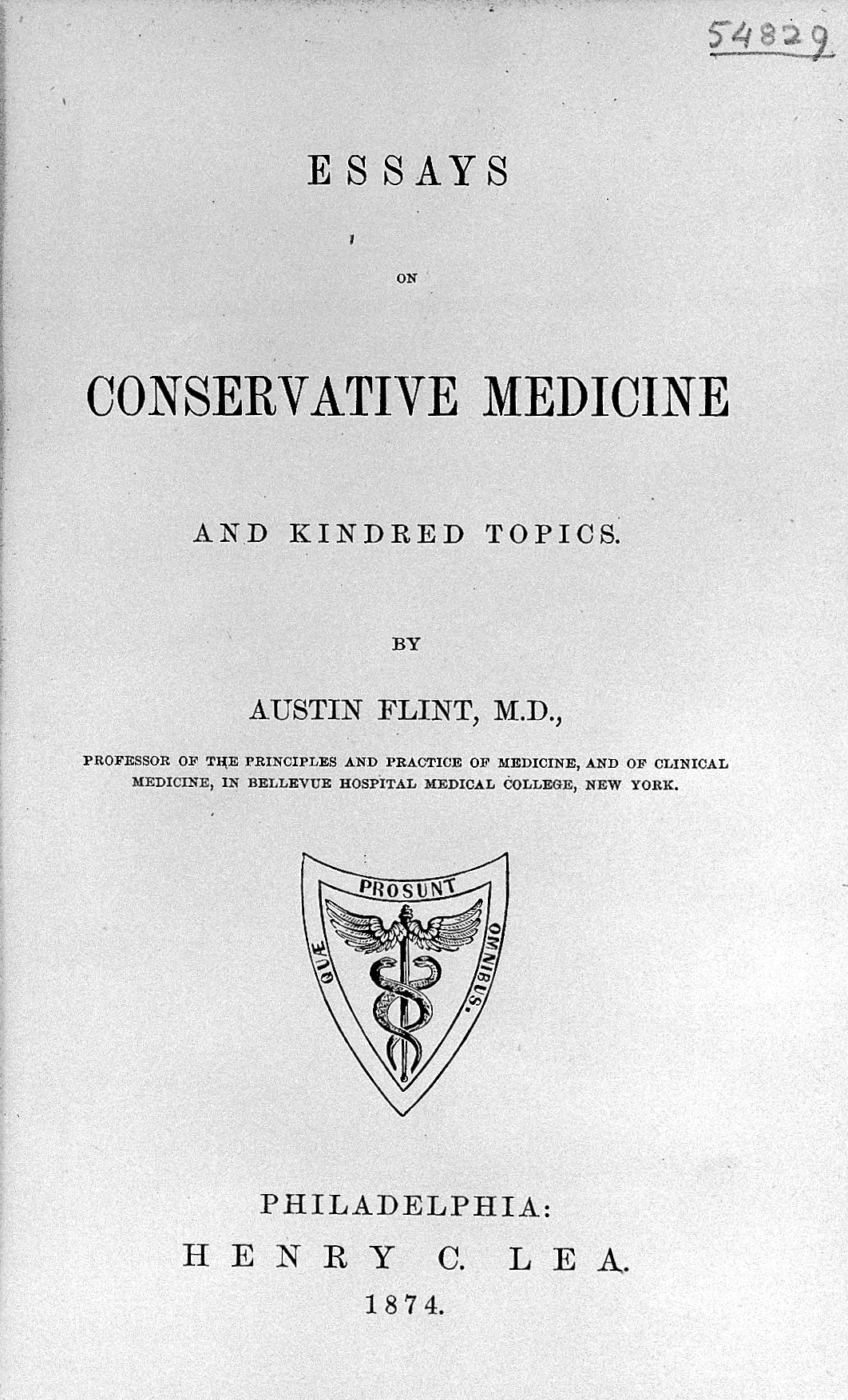 file essays on conservative medicine a flint wellcome file essays on conservative medicine a flint 1874 wellcome l0015340