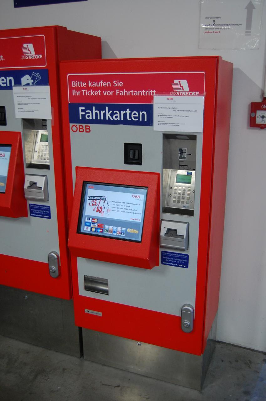 Fileöbb Ticket Vending Machine In Vienna West Station 3822922974