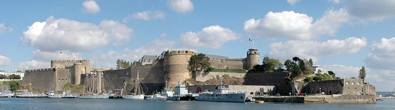 Château de Brest depuis le jardin des Explorateurs