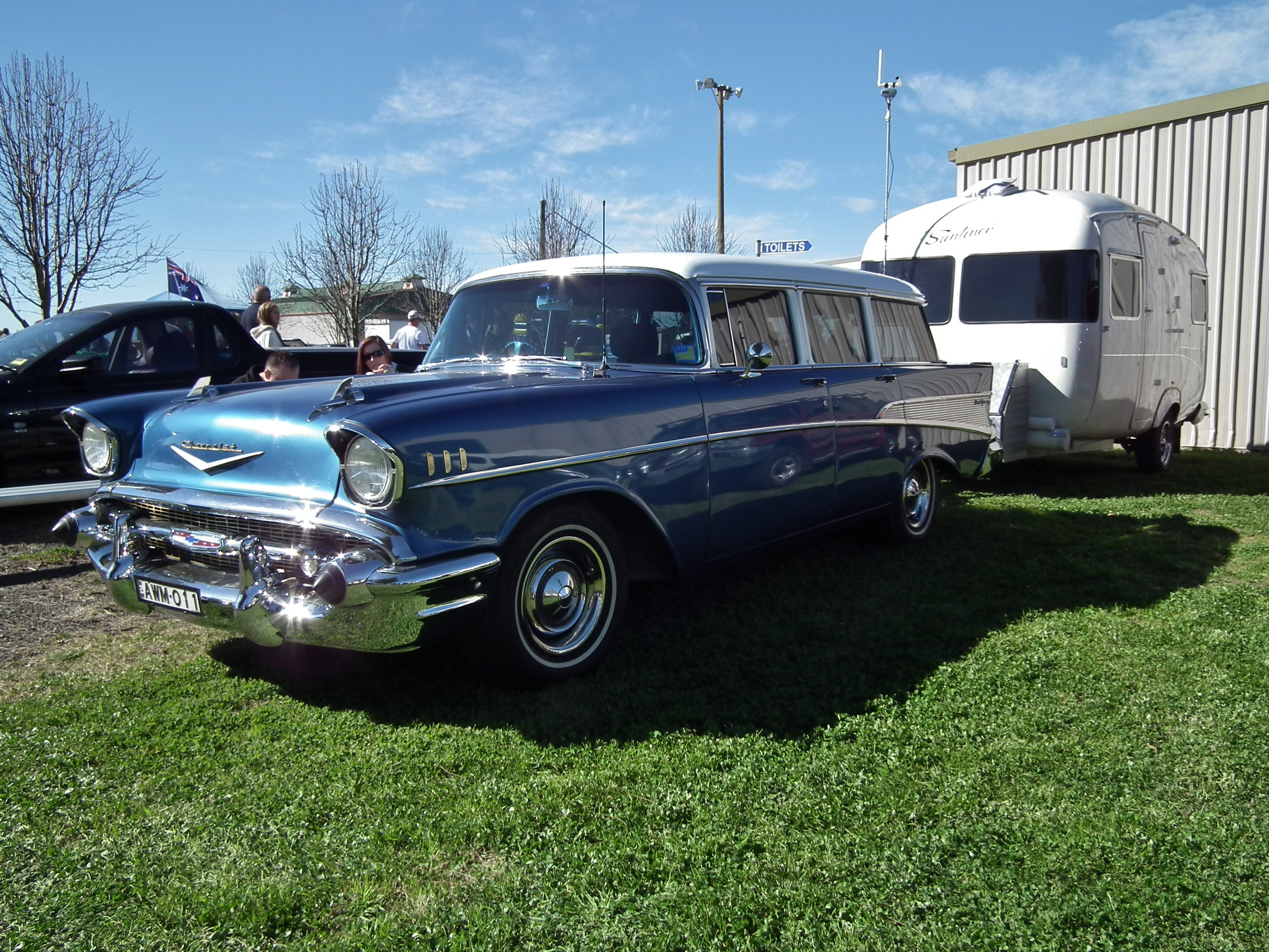 File 1957 Chevrolet Bel Air Station Wagon With Vintage