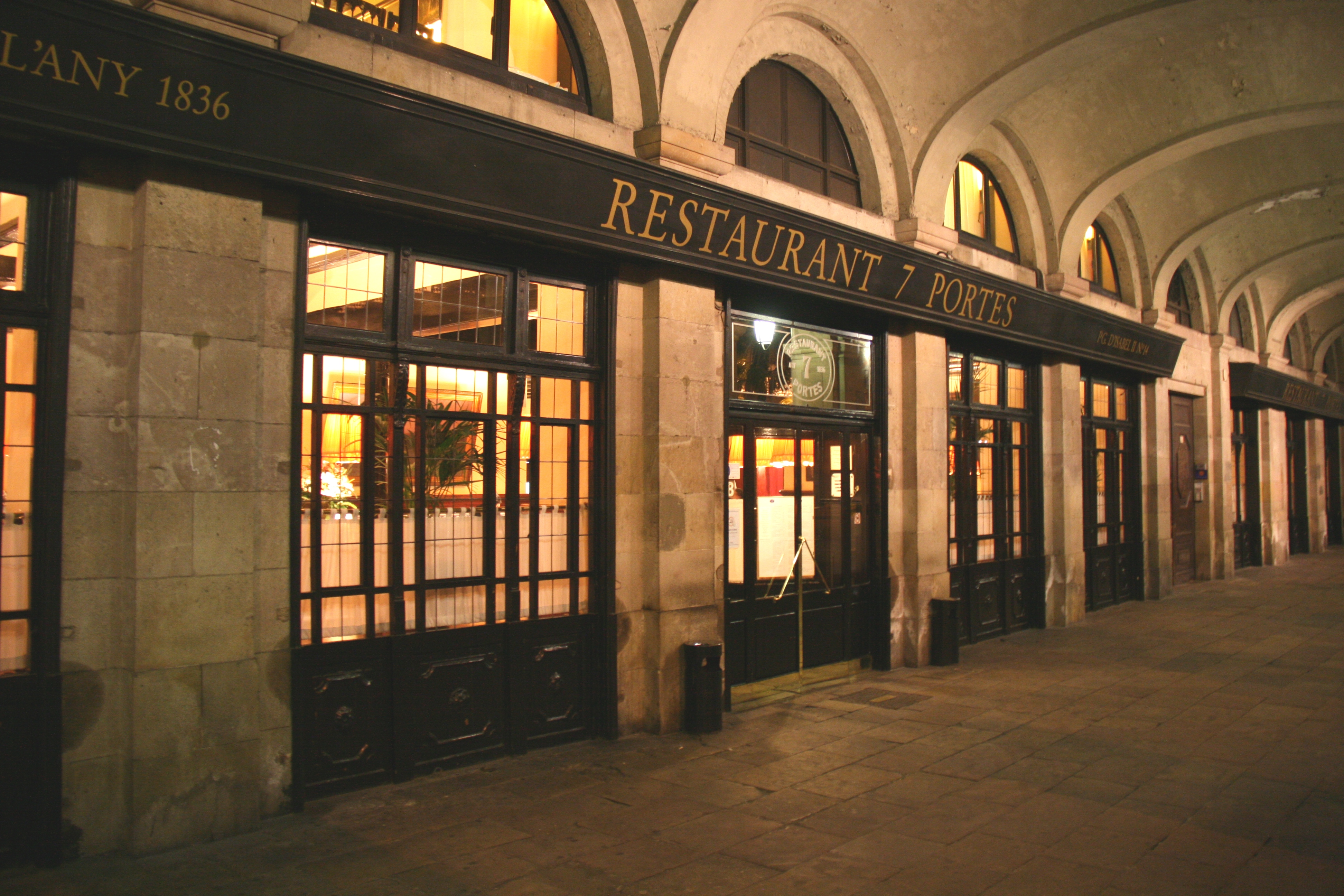 Restaurante 7 portes club de vacances bcn for 7 portes barcelona menu