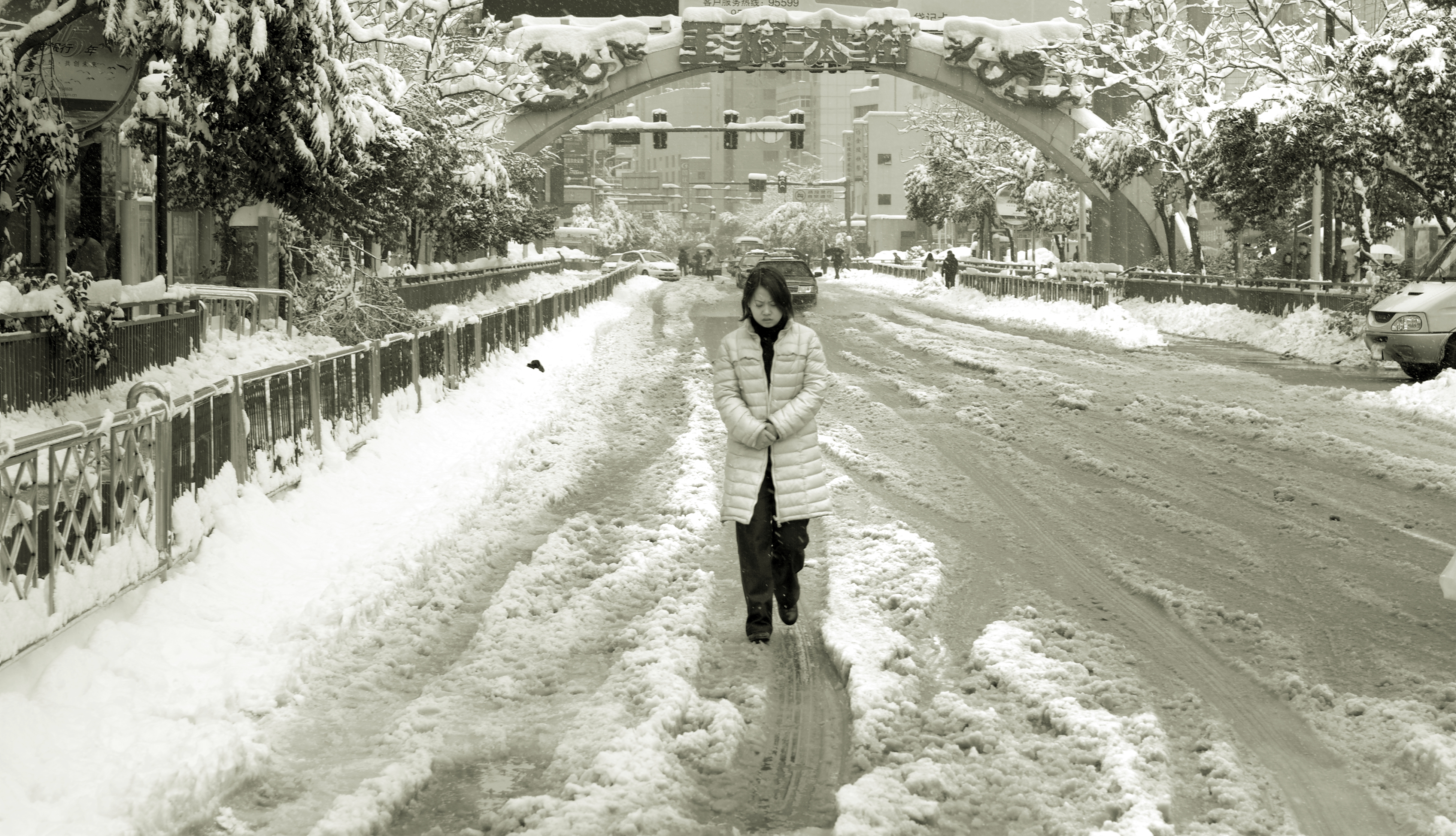 walking in the snow - photo #39
