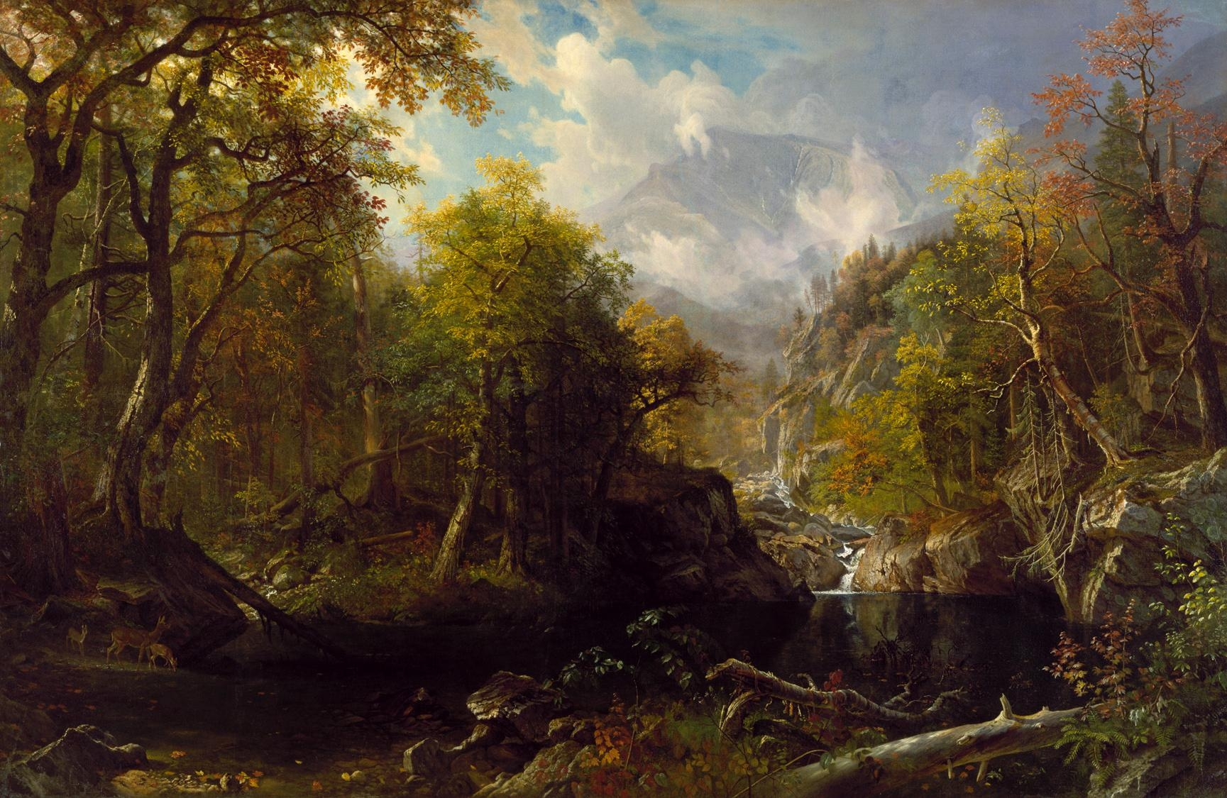 Albert Bierstadt Painting In The National Art Museum