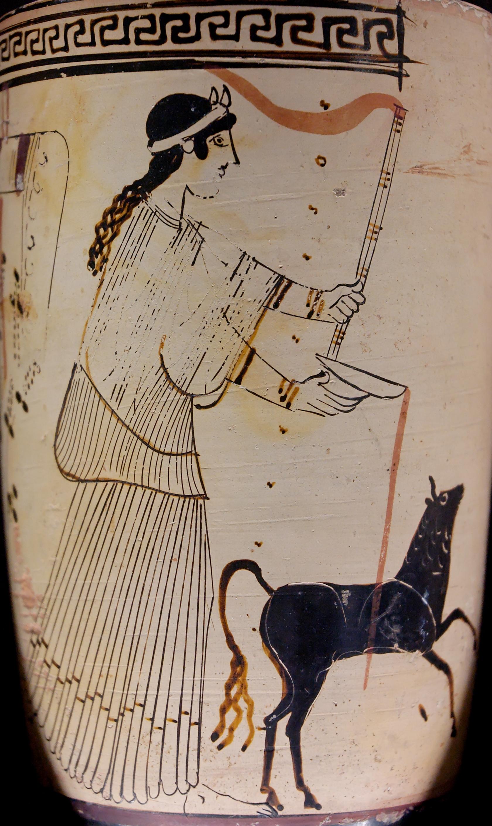 Depiction of Libaciones en la Antigua Grecia