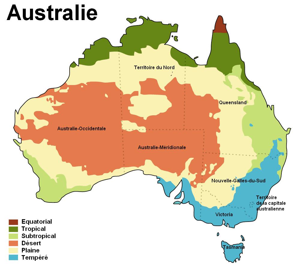 Carte Australie Montagnes.Climat De L Australie Wikipedia