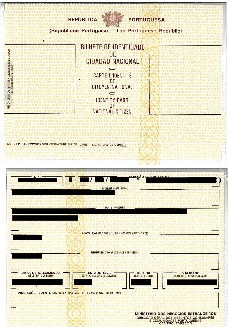 Portuguese ID Card