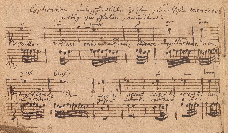 La guía de Bach sobre los ornamentos contenidos en el Pequeño libro de Wilhelm Friedemann Bach.
