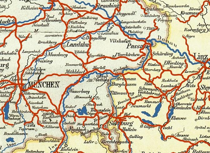 bahn karte deutschland Datei:Bahnkarte Deutschland 1899 Ausschnitt Oberbayern. – Wikipedia bahn karte deutschland