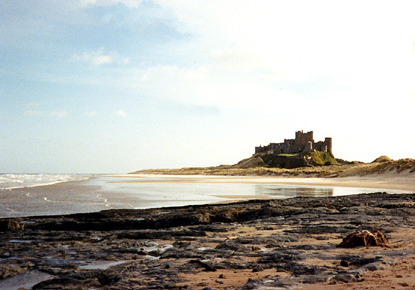 Bamburgh castle from the beach. Wikipedia Commons.
