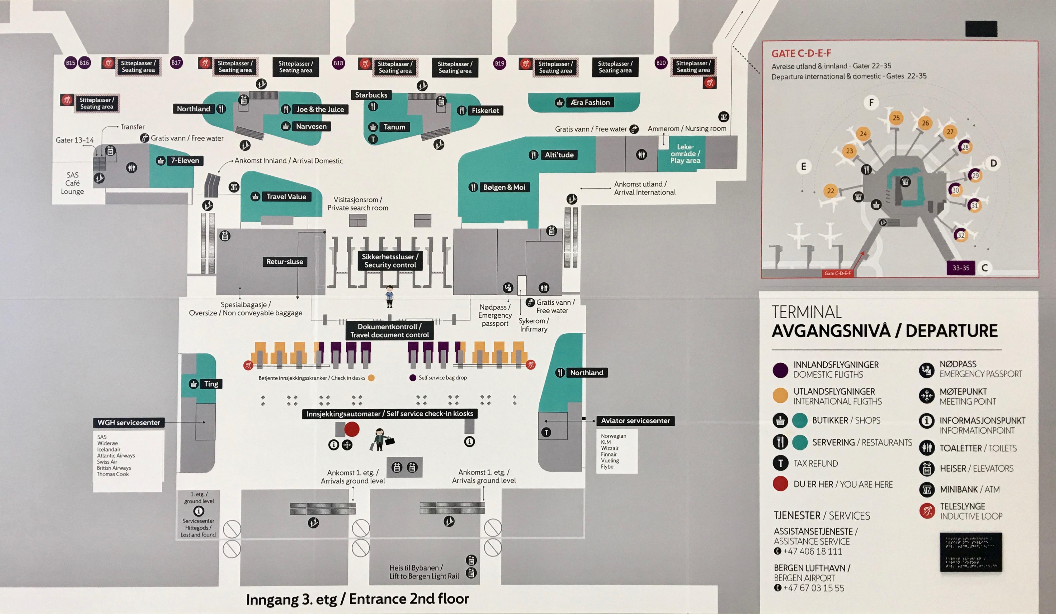 bergen airport terminal map File Bergen Airport Flesland Terminal 3 Departure Floor Plan bergen airport terminal map