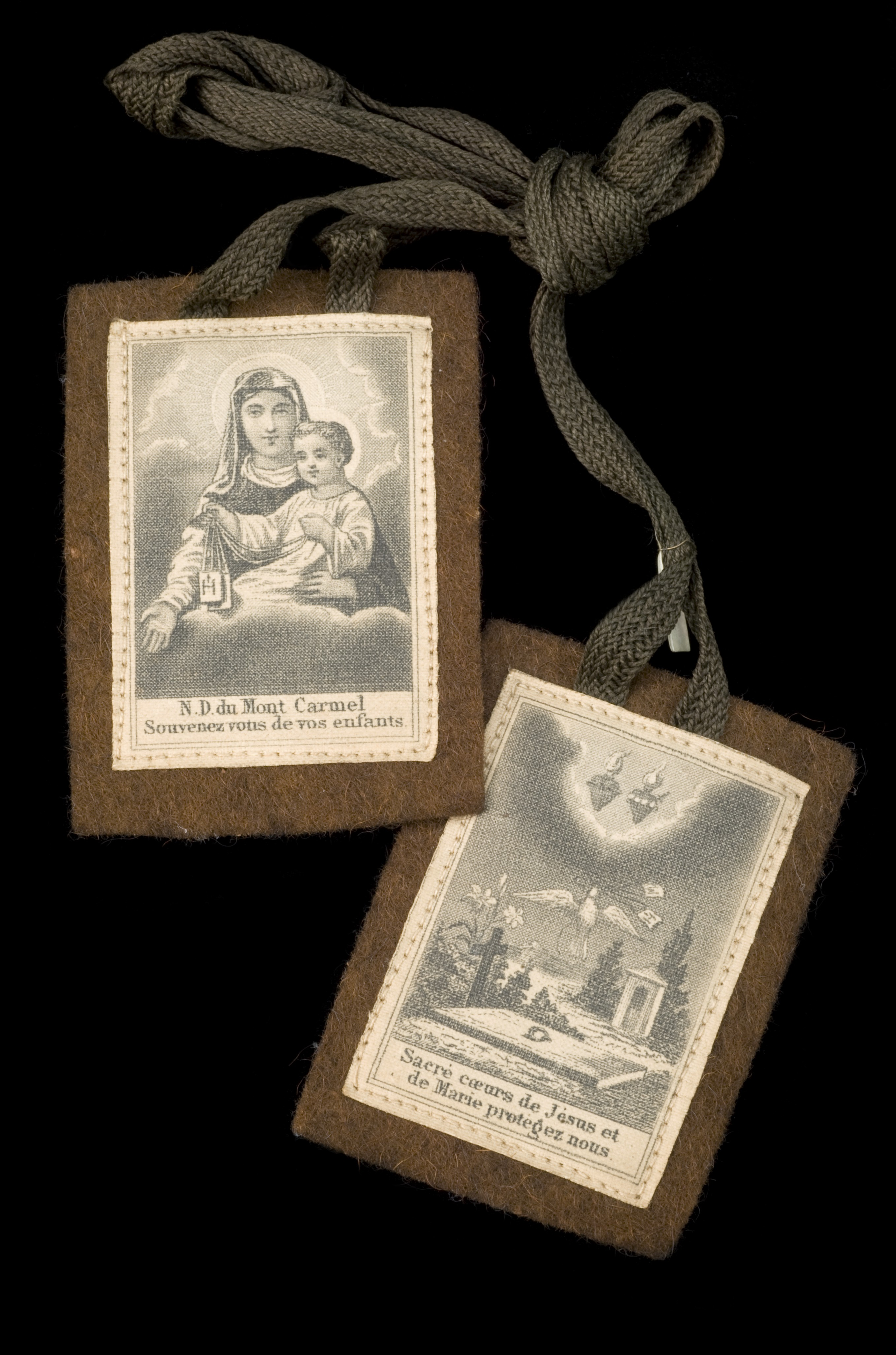File Brown Scapular Showing The Blessed Virgin Of Mount