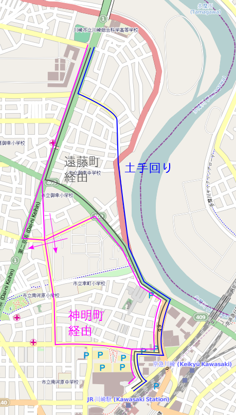 Kawasaki Station Map